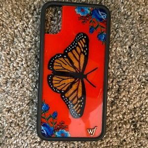 wildflower iphone x butterfly case